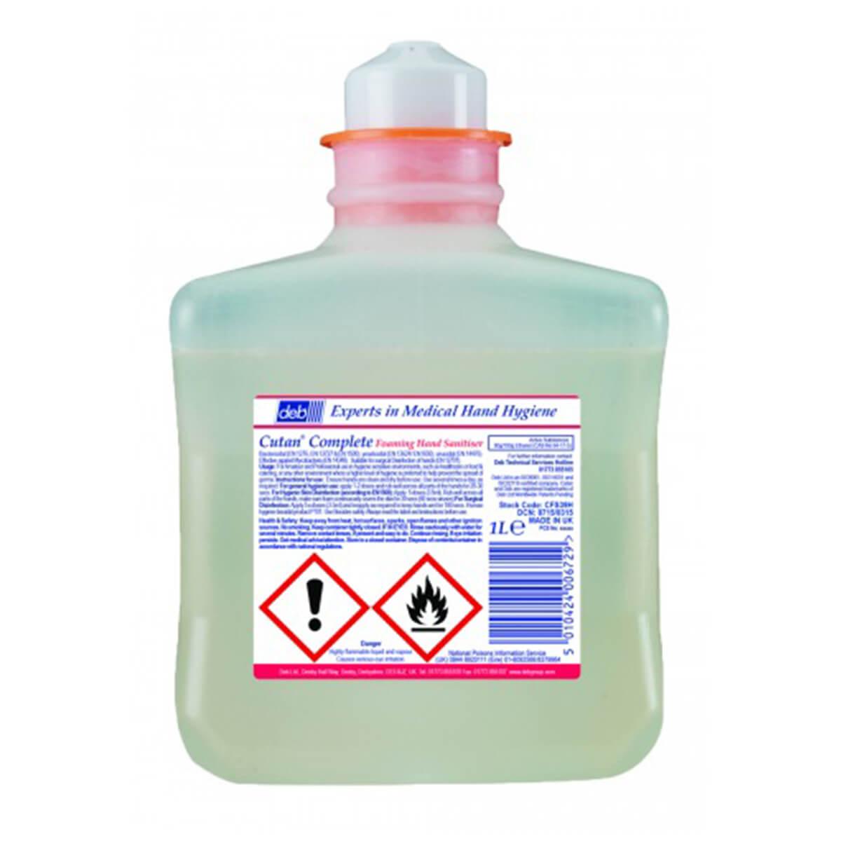 DEB Cutan Foam Hand Sanitiser Refill 1 Litre